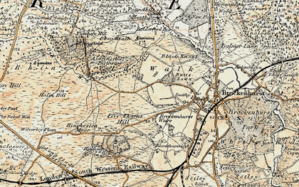 Old map of Aldridgehill Inclosure in 1897-1909