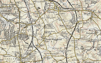 Old map of North Wingfield in 1902-1903
