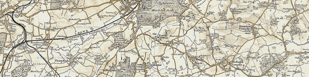 Old map of Westhill Lodge in 1899
