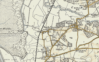 Old map of Wooton Marsh in 1901-1902