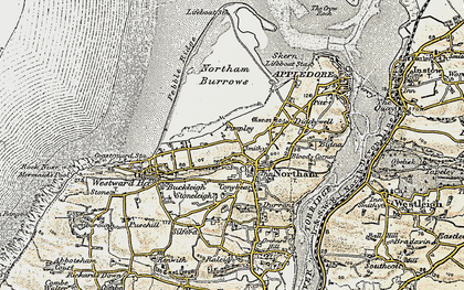 Old map of Northam in 1900