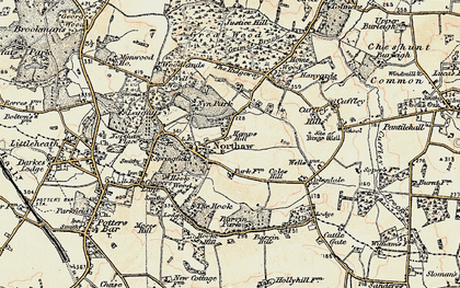 Old map of Northaw in 1897-1898