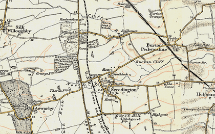 Old map of Willoughby Gorse in 1902-1903