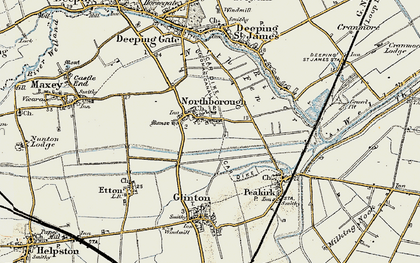 Old map of Northborough in 1901-1902