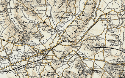 Old map of Langford Br in 1898-1900