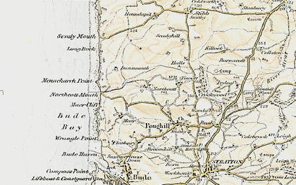 Old map of Northcott in 1900