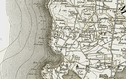 Old map of West Stove in 1912