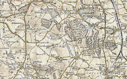 Old map of Northedge in 1902-1903