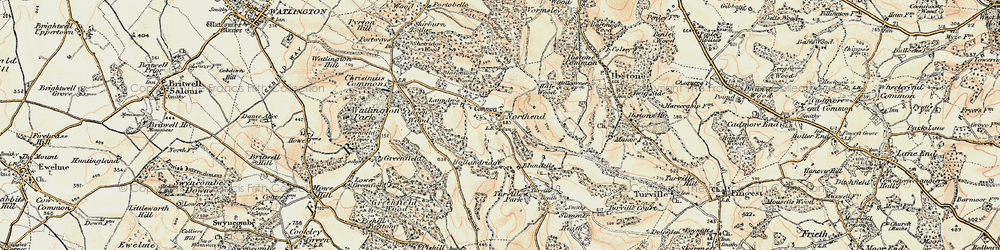 Old map of Wormsley Park in 1897-1898