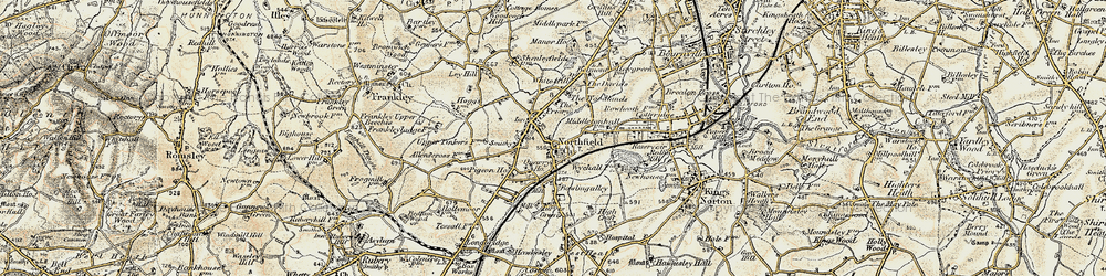 Old map of Northfield in 1901-1902