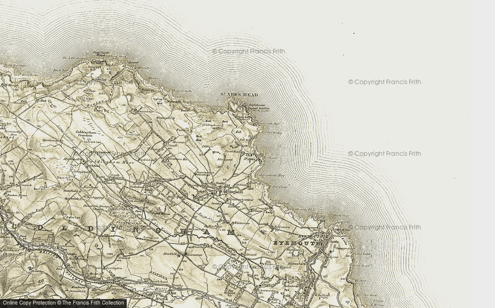 Old Map of Historic Map covering Linkim Shore in 1901-1903