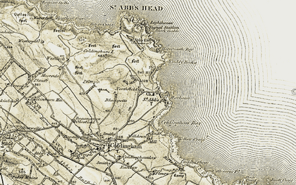 Old map of Yellow Craig in 1901-1903