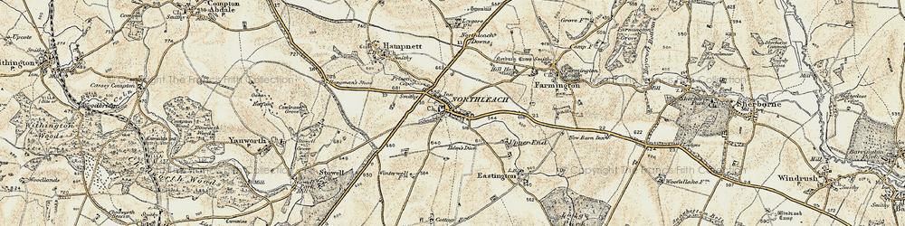Old map of Northleach in 1898-1899