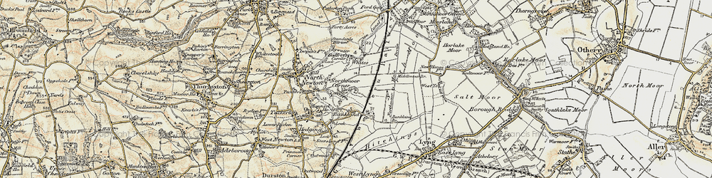 Old map of White's in 1898-1900