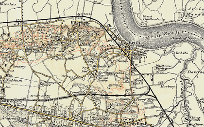 Old map of Northumberland Heath in 1898