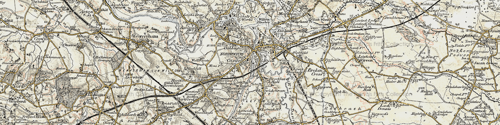 Old map of Northwich in 1902-1903