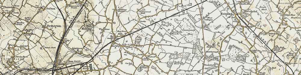 Old map of Northwood in 1902-1903