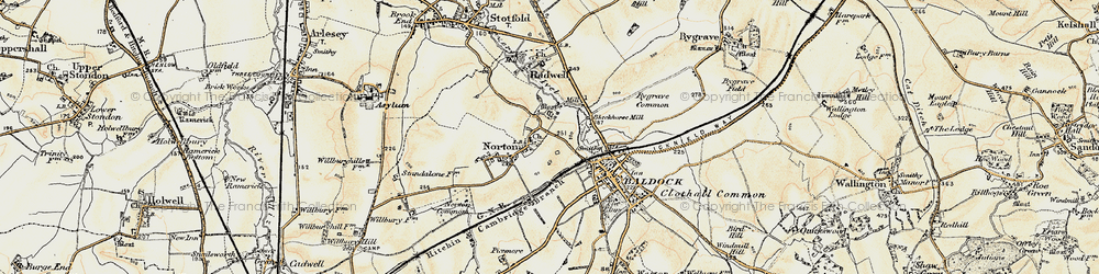 Old map of Norton in 1898-1901