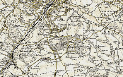 Old map of Norton in 1902-1903