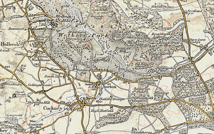 Old map of Wood Barn Plantn in 1902-1903
