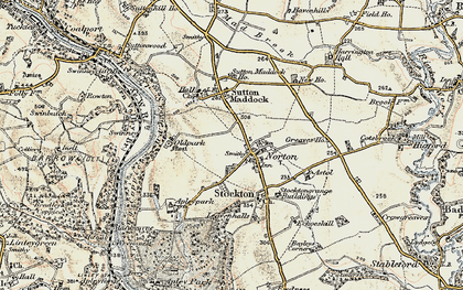 Old map of Astol in 1902
