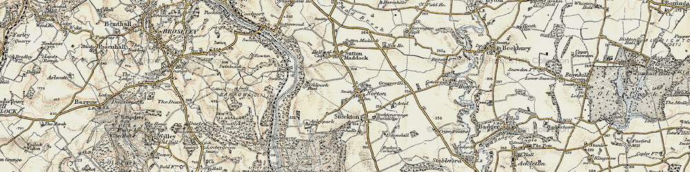 Old map of Norton in 1902