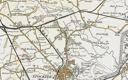Old map of Norton in 1903-1904