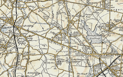 Old map of Norton Canes in 1902