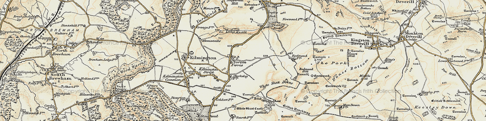 Old map of White Sheet Downs in 1897-1899