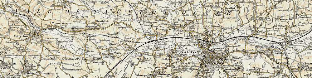 Old map of Wey Ho in 1898-1900