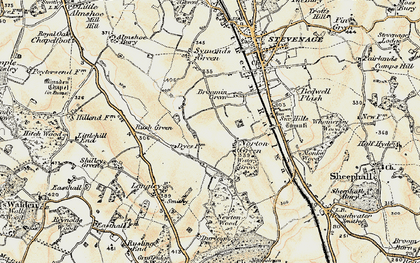 Old map of Norton Green in 1898-1899