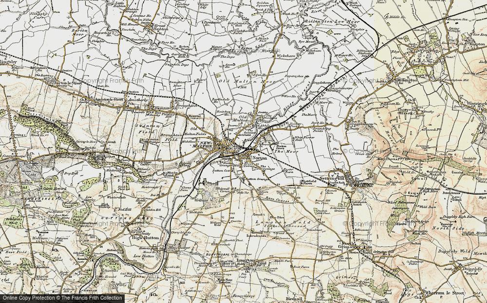 Old Map of Norton-on-Derwent, 1903-1904 in 1903-1904
