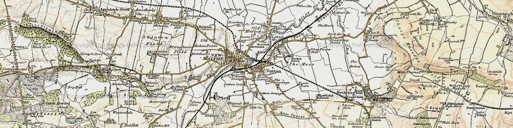 Old map of Norton-on-Derwent in 1903-1904