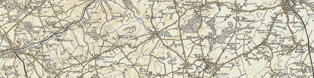 Old map of Norton St Philip in 1898-1899