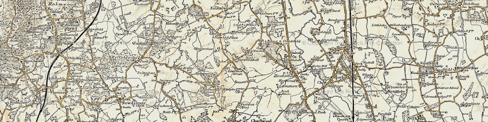 Old map of Wrays in 1898-1909