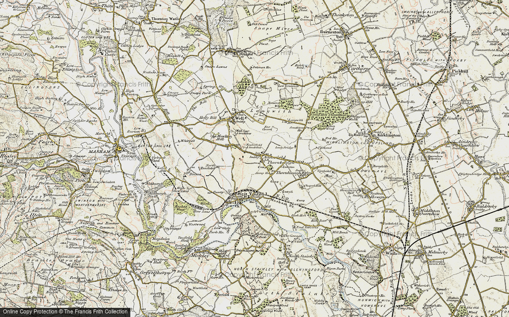 Old Map of Historic Map covering Langwith Ho in 1903-1904