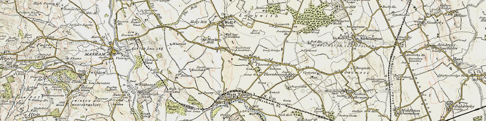 Old map of Langwith Ho in 1903-1904