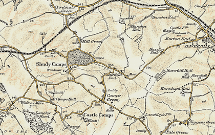 Old map of Nosterfield End in 1898-1901