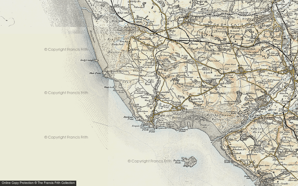 Old Map of Nottage, 1900-1901 in 1900-1901