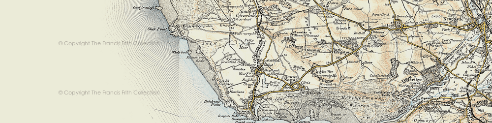 Old map of Nottage in 1900-1901