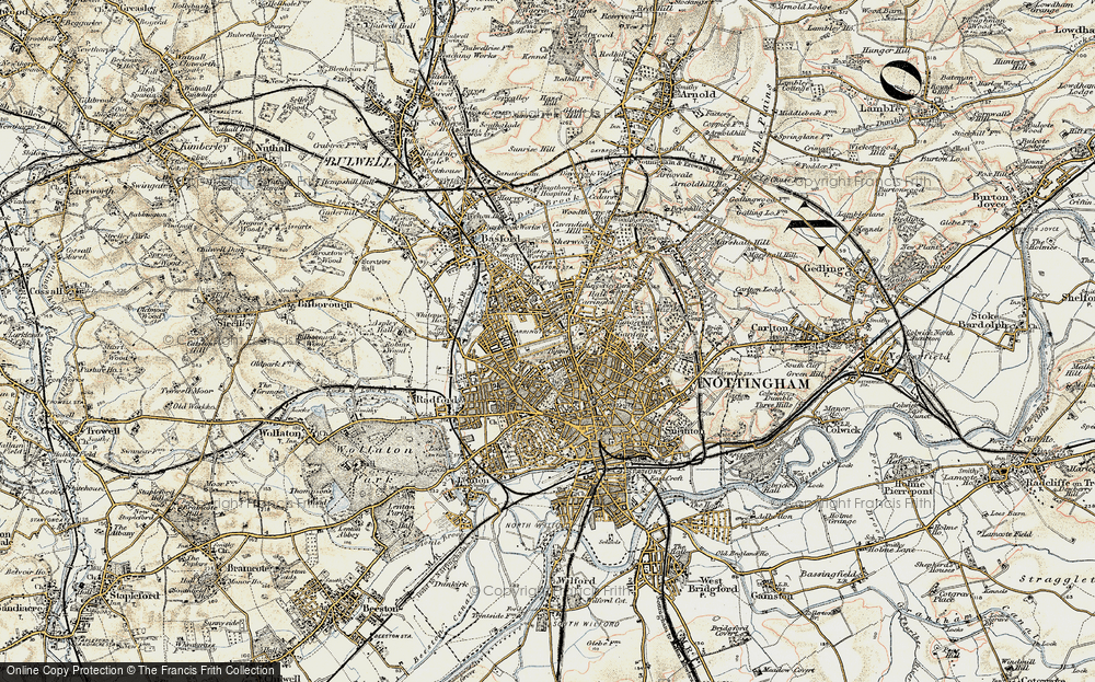 Old Map of Nottingham, 1902-1903 in 1902-1903
