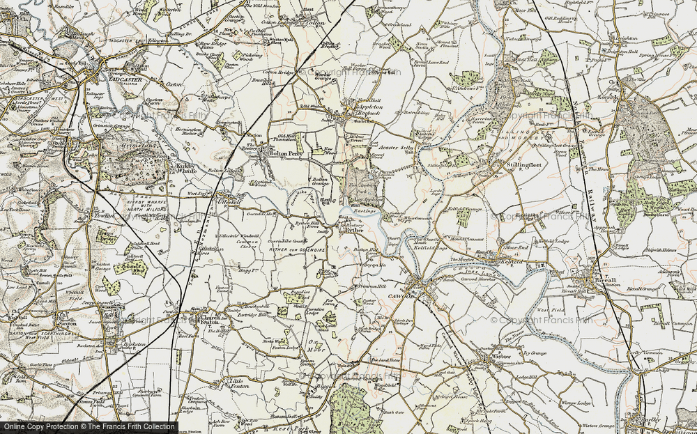Old Map of Historic Map covering Woodbine Grange in 1903