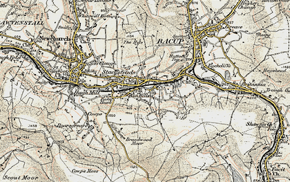 Old map of Rossendale Valley in 1903