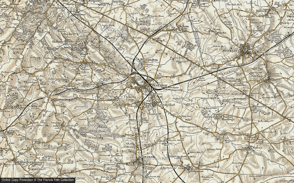 Old Maps of Nuneaton Francis Frith