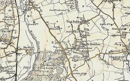 Old map of Nuneham Courtenay in 1897-1899