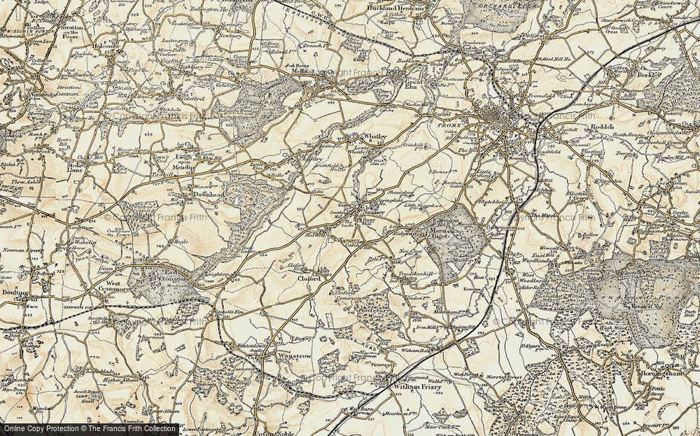 Old Map of Nunney, 1897-1899 in 1897-1899