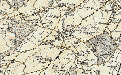Old map of Nunney in 1897-1899