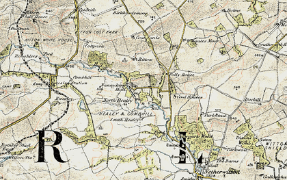 Old map of Wingates Wholme in 1901-1903