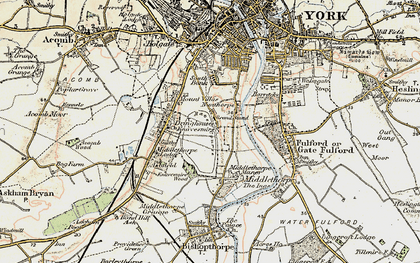 Old map of Nunthorpe in 1903