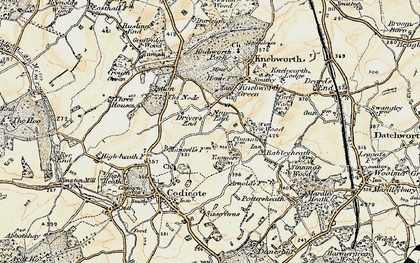 Old map of Nup End in 1898-1899